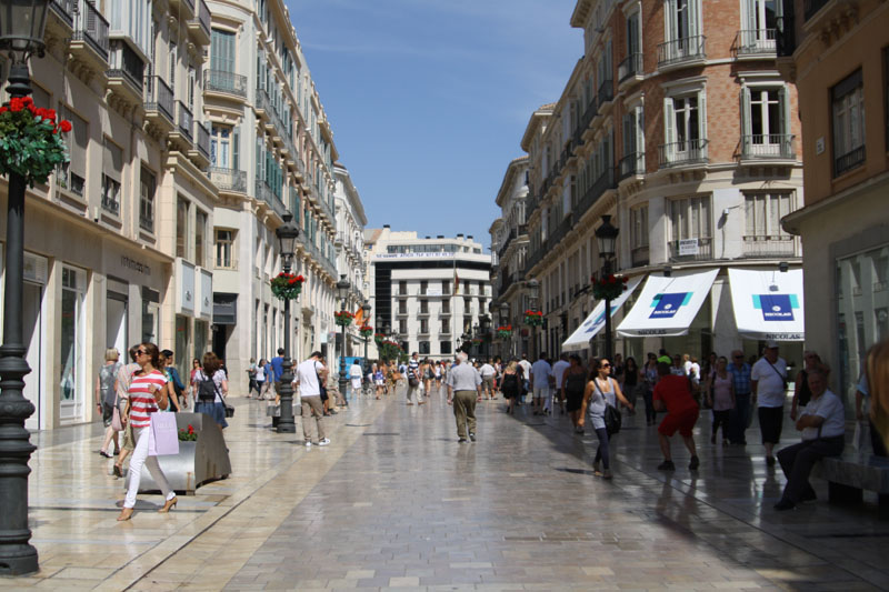 Улица Marques de Larios в Малаге, Испания / Фото из Испании