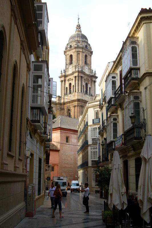 Вид на кафедральный собор Малаги и мастерскую отца Пикассо / Фото из Испании