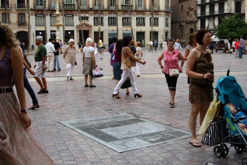 Площадь Конституции в Малаге, Испания / Фото из Испании
