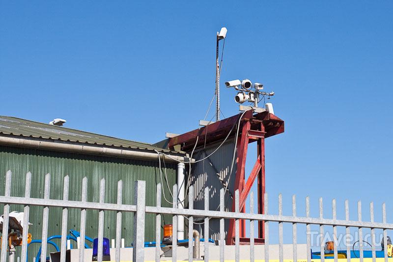 Камера видеонаблюдения на острове Олдерни / Фото из Великобритании