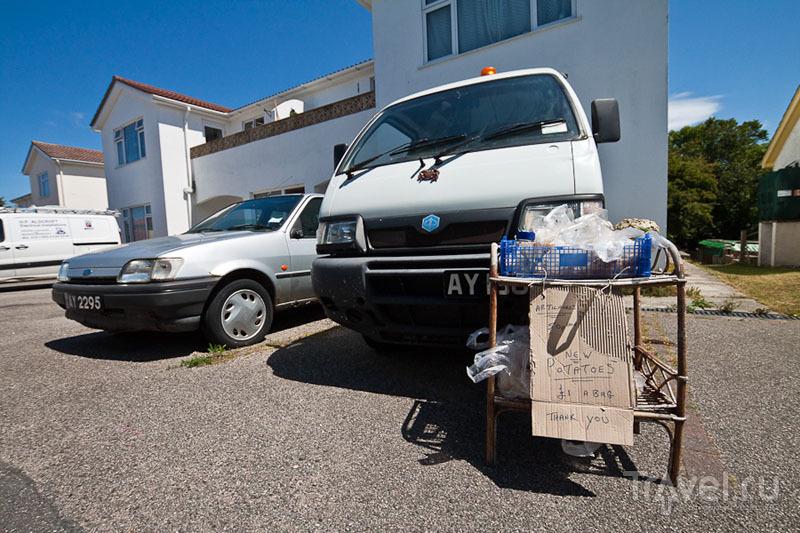 Продажа картофеля на острове Олдерни / Фото из Великобритании