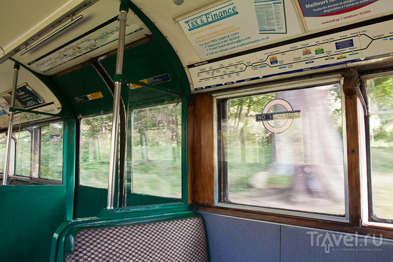 Вагон из лондонского метро на острове Олдерни / Фото из Великобритании