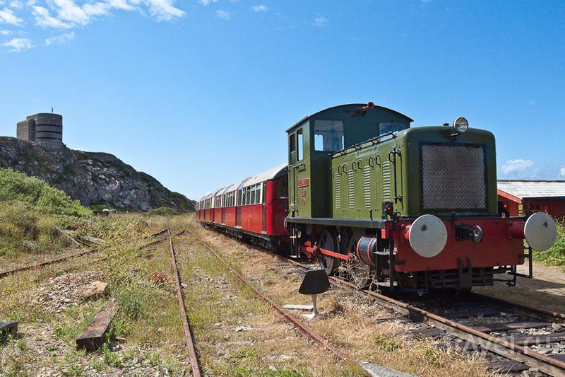 Железная дорога на острове Олдерни / Фото из Великобритании