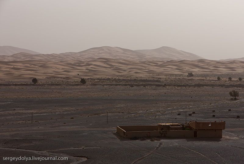 Вид из окна гостиницы в пустыне Сахара / Фото из Марокко