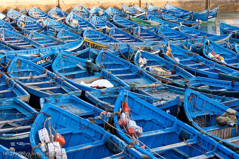 Лодки у города Эс-Сувейра, Марокко / Фото из Марокко