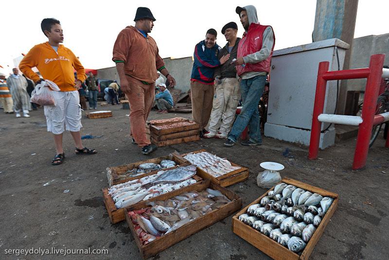 Рыбаки в Эс-Сувейре, Марокко / Фото из Марокко