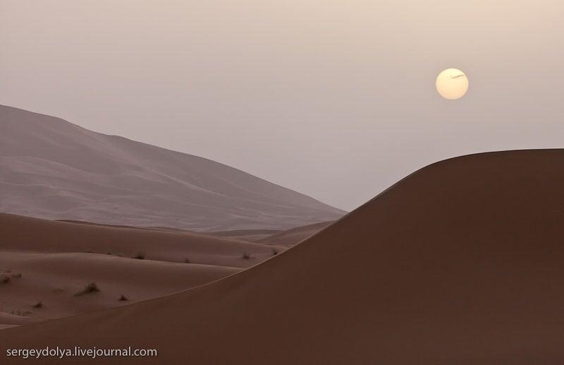 Дюны в пустыне Сахара, Марокко / Фото из Марокко