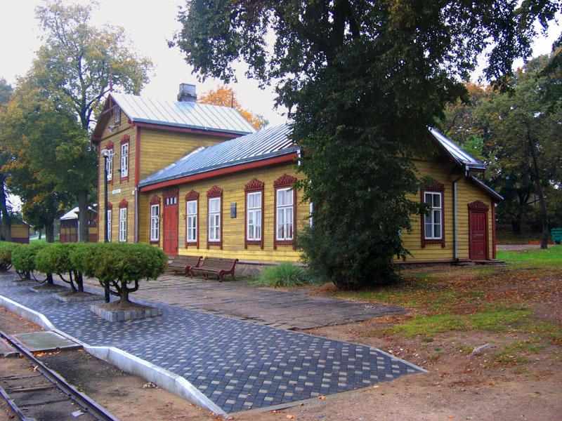 Старый вокзал Аникщяя, Литва / Фото из Литвы