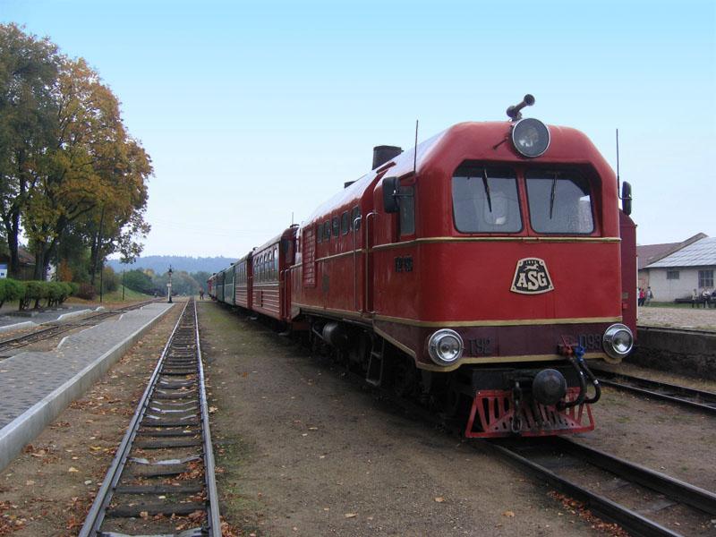 Старый тепловоз, Музей узкоколейной железной дороги, Аникщяй / Фото из Литвы