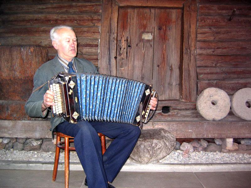 Выступление гармониста, Аникщяй / Фото из Литвы