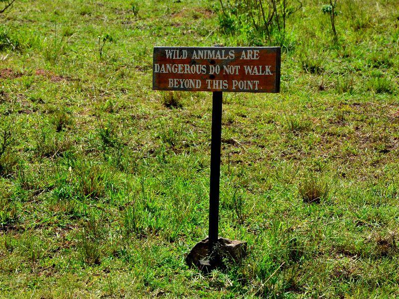 Объявление в кемпинге, Кения / Фото из Кении