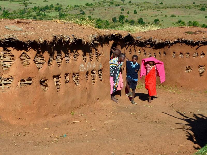В деревне масаев, Кения / Фото из Кении