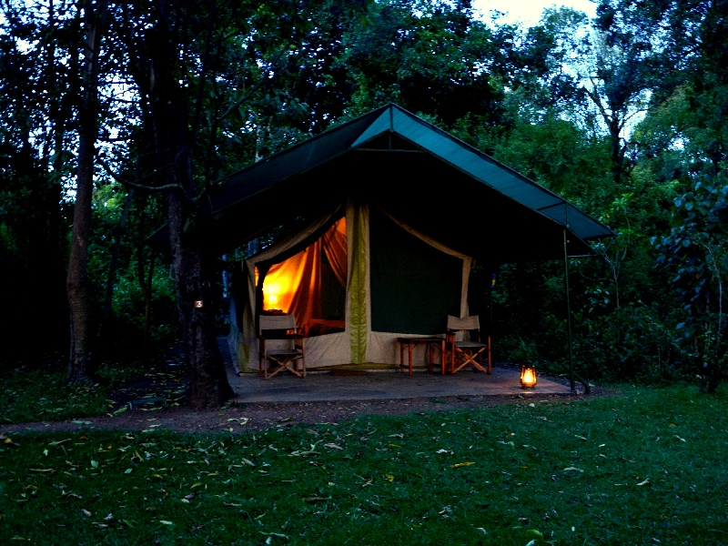 Вечер в кемпинге Governors' Camp, Кения / Фото из Кении