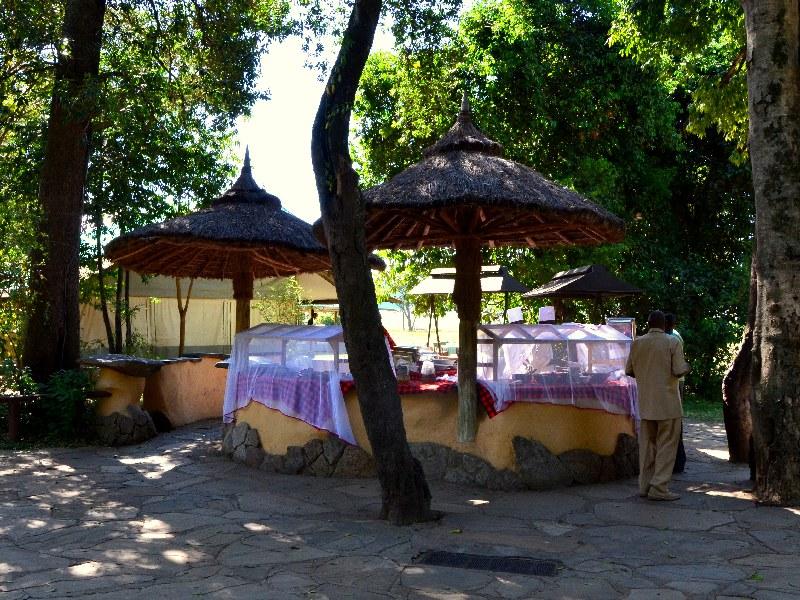 Завтрак в кемпинге Governors' Camp, Кения / Фото из Кении