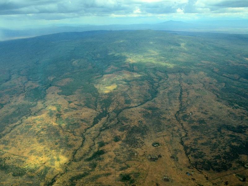 Вид на Кению с самолета / Фото из Кении