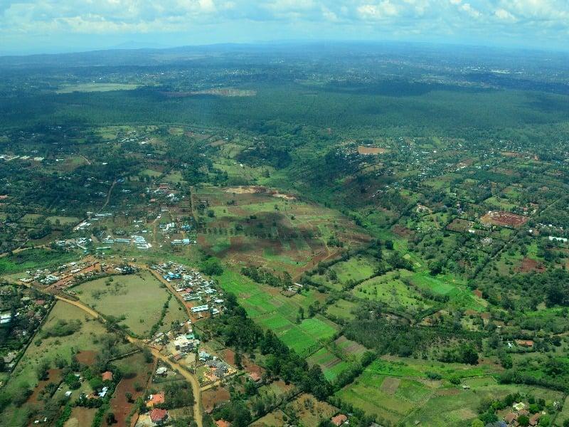 Вид на Найроби с самолета / Фото из Кении