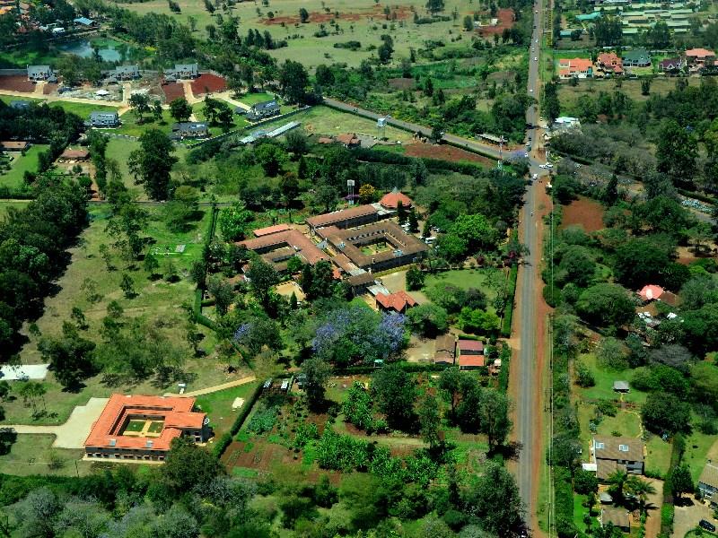 Пейзаж Найроби с самолета / Фото из Кении