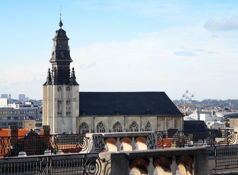 Вид со смотровой площадки у Дворца правосудия, Брюссель / Фото из Бельгии