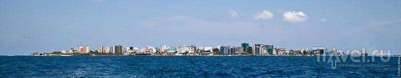 Вид на город Мале - столицу Мальдив / Фото с Мальдив