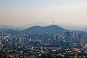 Вид с соседнего холма / Южная Корея