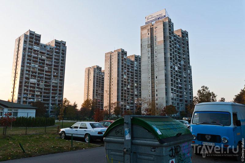 Микроавтобусы в Белграде / Фото из Сербии