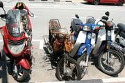 Обгоревшие мотобайки / Малайзия