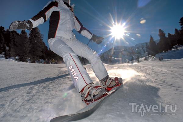 По склонам на сноуборде