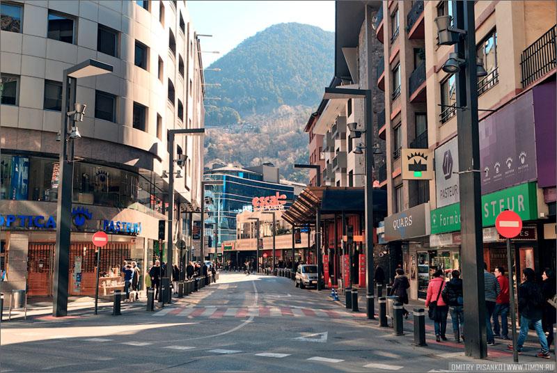 Проспект Меричель в Андорра-ла-Велья / Фото из Андорры
