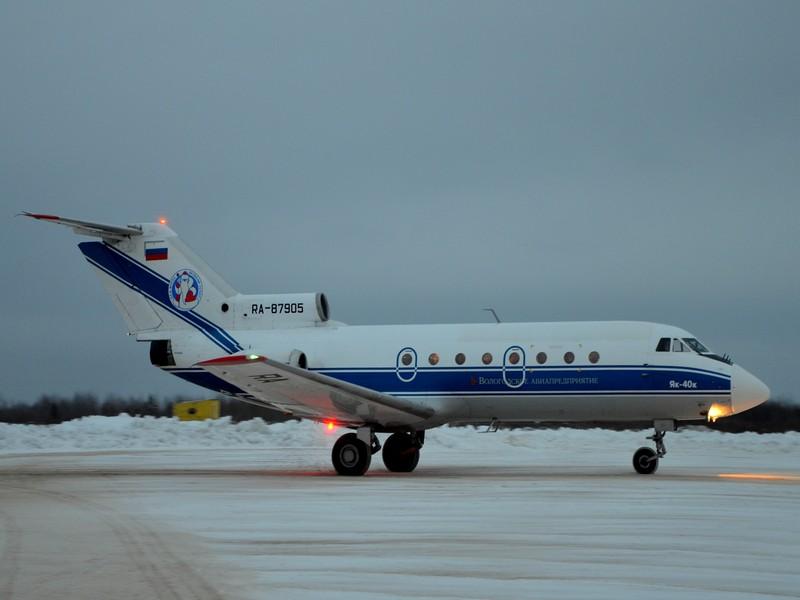 Як-40 приземлился в аэропорту Великого Устюга / Фото из России