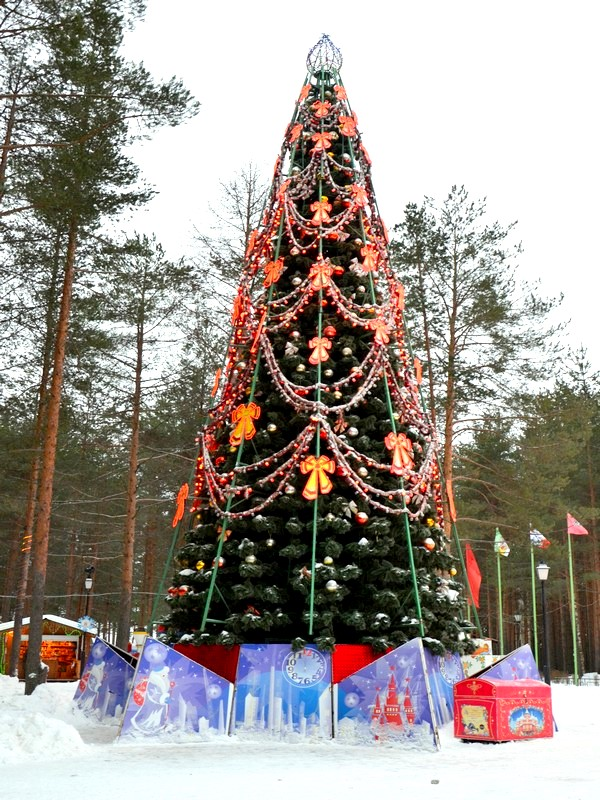 Главная ёлка у дома Деда Мороза / Фото из России