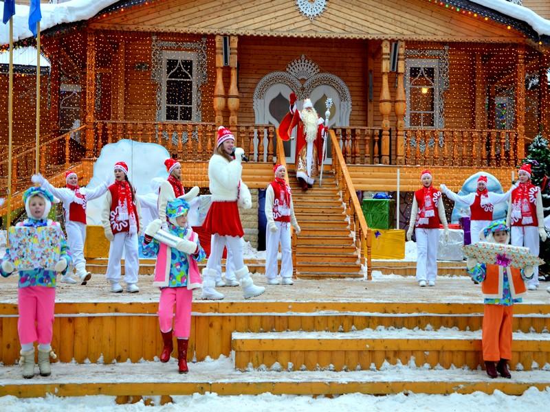 Новогодняя программа у дома Деда Мороза / Фото из России