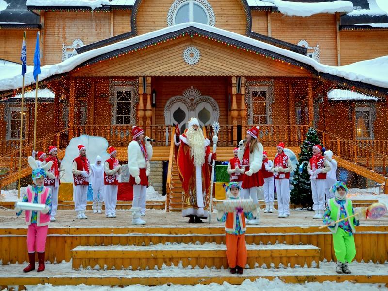 Новогоднее представление в вотчине Деда Мороза / Фото из России
