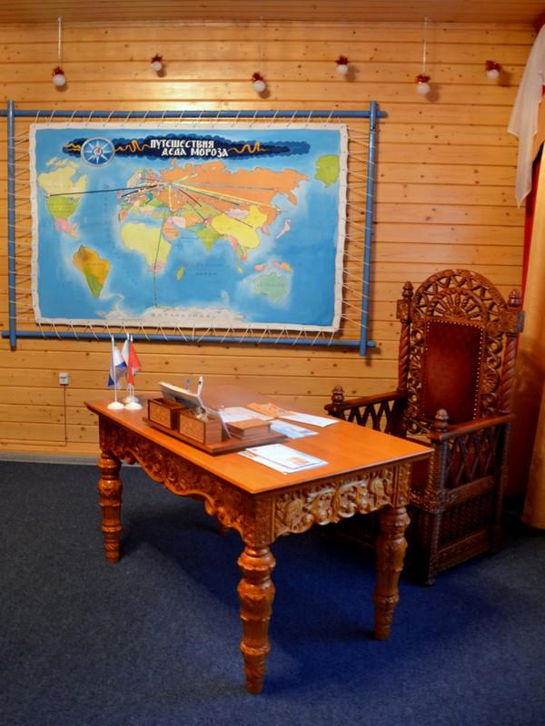 Рабочий кабинет Деда Мороза / Фото из России