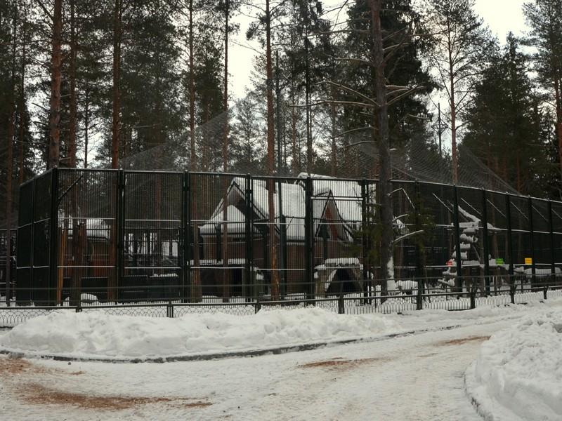 Вольеры в зоосаде вотчины Деда Мороза / Фото из России