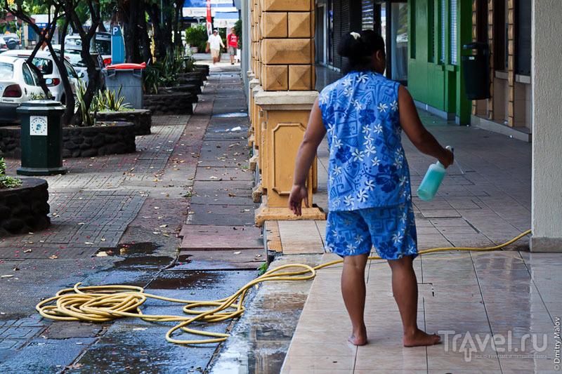 На улице Таити / Фото из Французской Полинезии
