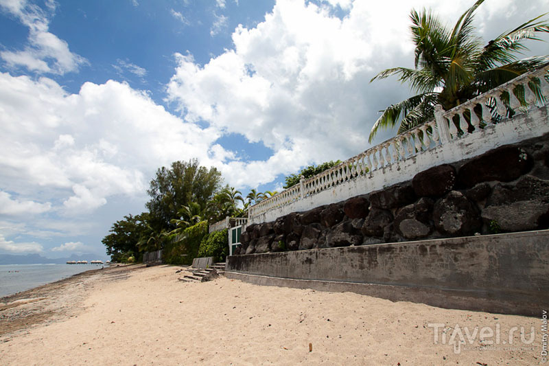 Пляж на Таити / Фото из Французской Полинезии