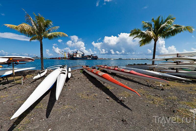Торговый порт Папеэте на Таити / Фото из Французской Полинезии