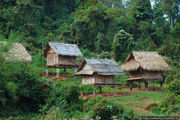 Хижины на сваях / Лаос