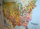 Карта с кнопками / США