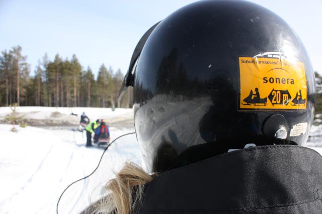 Прогулка на снегоходах в Финляндии / Фото из Финляндии