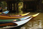 Лодки на баньяновой реке / Таиланд