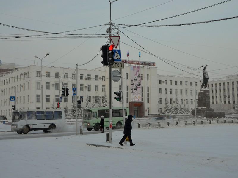Площадь в Якутске / Фото из России