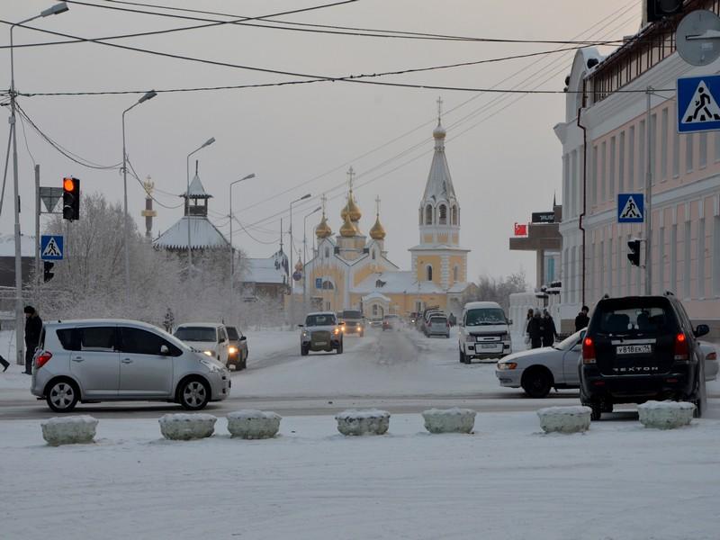 Улица в Якутске / Фото из России