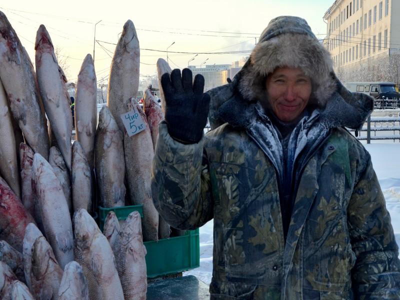 Продажа рыбы в Якутии / Фото из России