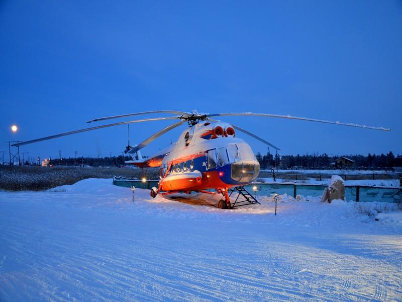 Вертолет в Якутии / Фото из России