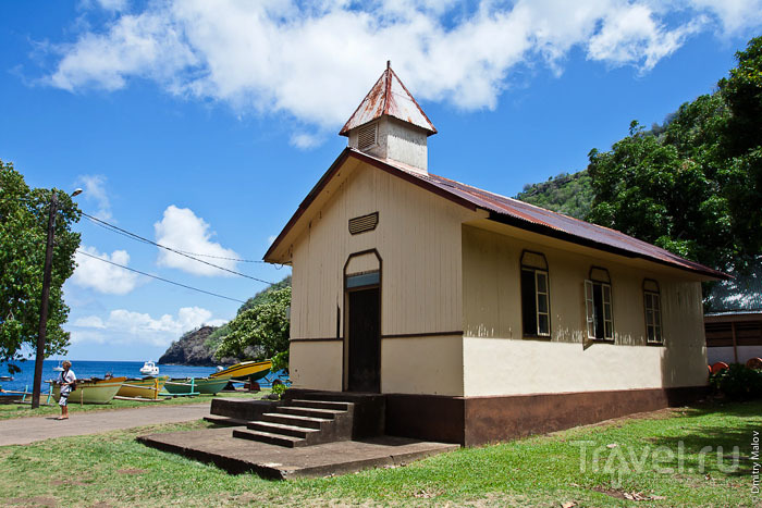 Здание на острове Тахуата / Фото из Французской Полинезии