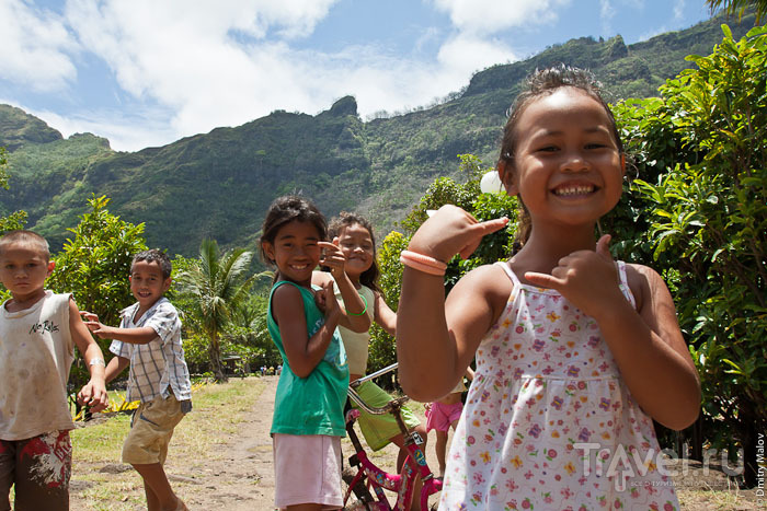 Дети с острова Тахуата / Фото из Французской Полинезии