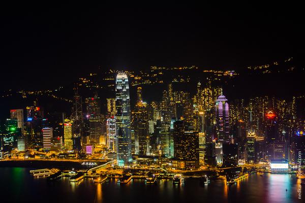 00a52b525221 Вид на сторону пика Виктория   Гонконг - Сянган (КНР)