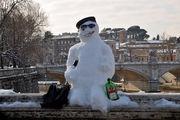 Снеговик-турист / Италия
