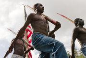На фоне флага / Вануату